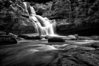 March at Cedar Falls Black and White Landscape Photography by Jim Crotty