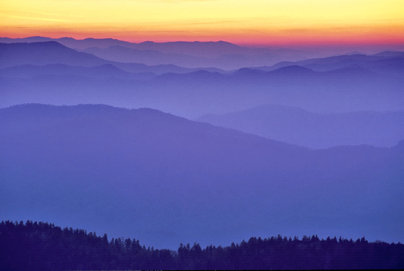 Dawn from Clingman's Dome by Jim Crotty