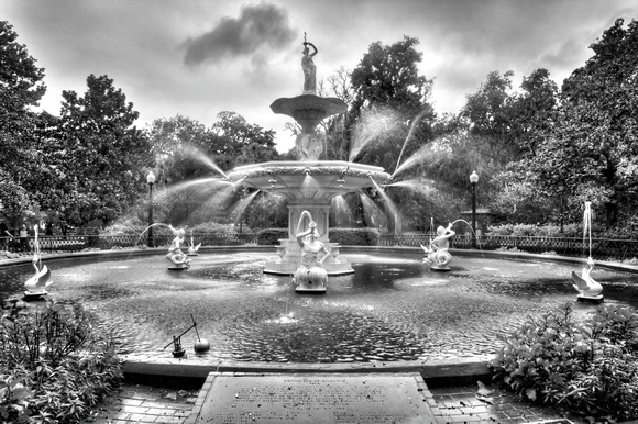 e697f1a1055 Forsyth Park Fountain in Savannah Black and White by Jim Crotty