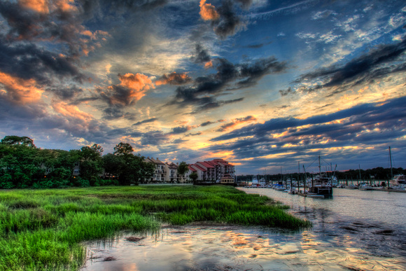 June Sunset on Broad Creek by Jim Crotty
